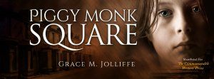 book cover of Piggy Monk Square by Grace Jolliffe in an article called - choosing a cover designer