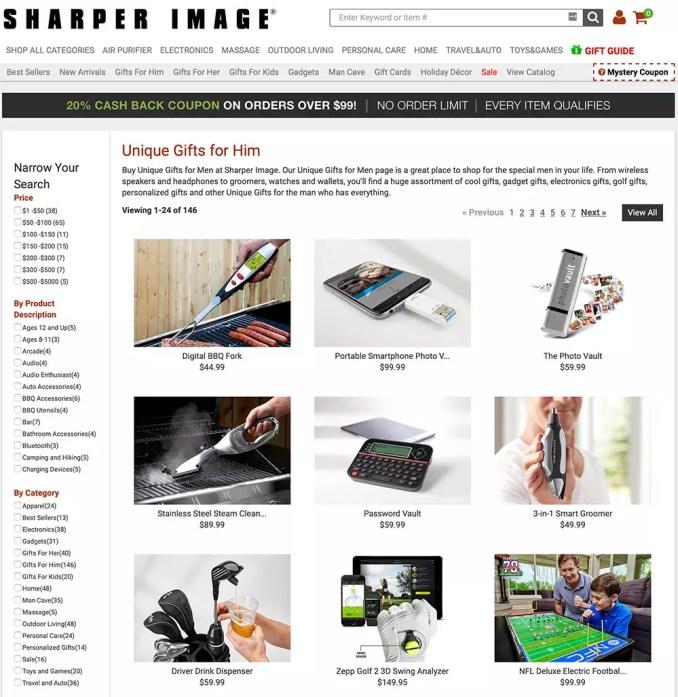 Sharper Image gifts for him
