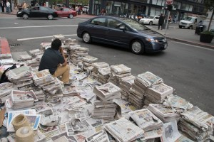 PE - Green News 9-2009 - FL Steve Rhodes newspapers curbside