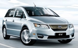 BYD electric car E6