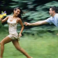 guy pursuing a woman