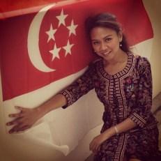 singapore flag woman