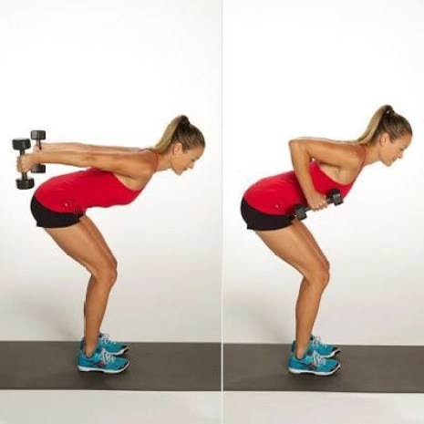 Bent-Over Dumbbell Row Workout