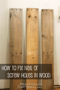 How To Fix Nail Or Screw Holes In Reclaimed Wood