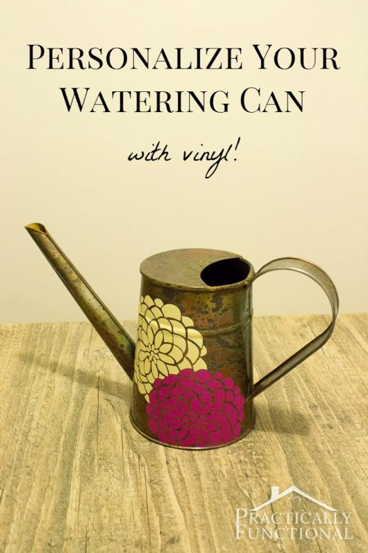 Watering can with Vinyl