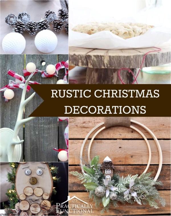 DIY Rustic Christmas Decoration Ideas