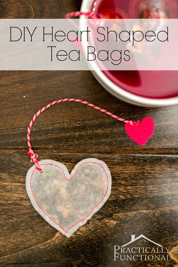 DIY Heart Shaped Tea Bags For Valentines Day