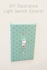DIY Decorative Light Switch Covers