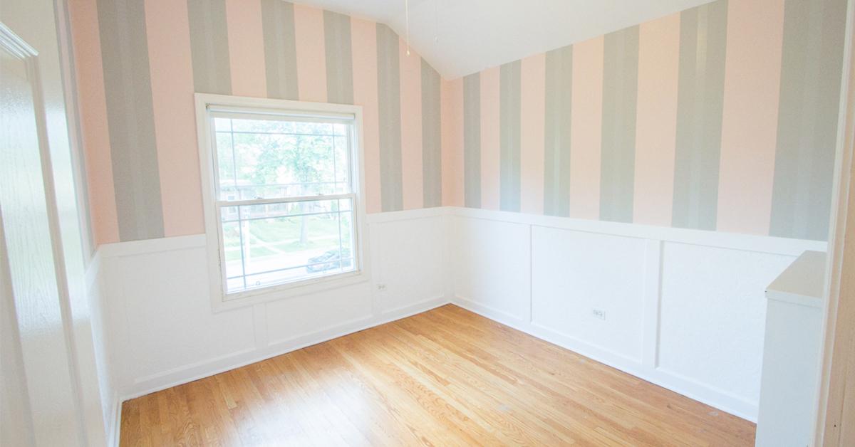 Pink Fall Wallpaper Diy Wainscoting With Textured Wallpaper