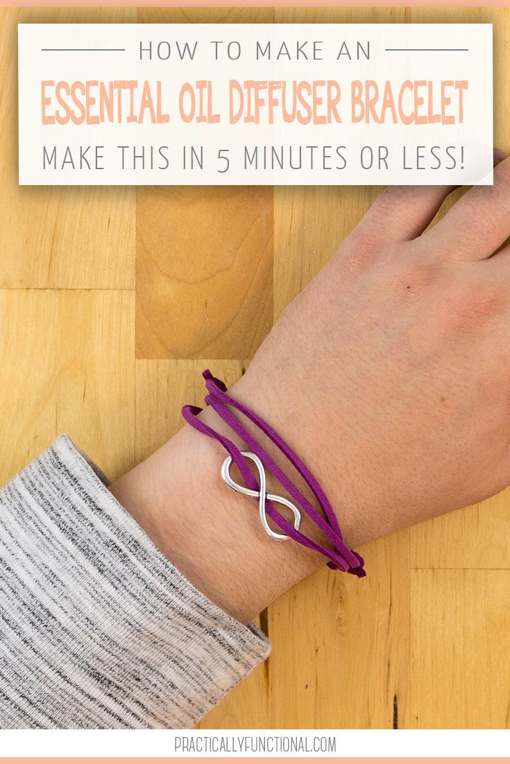 Wonderful! 5 Minute DIY Essential Oil Diffuser Bracelet