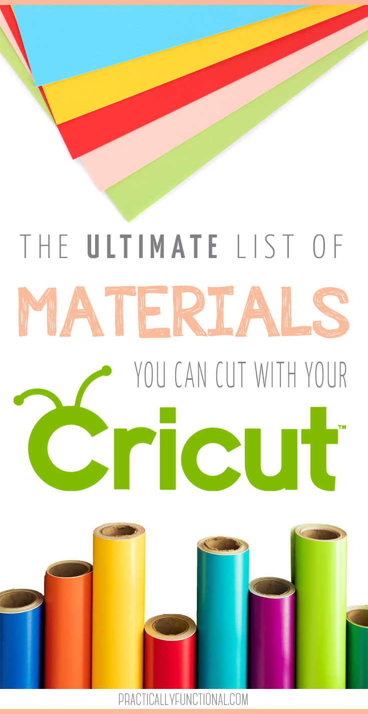 what materials can a cricut machine cut