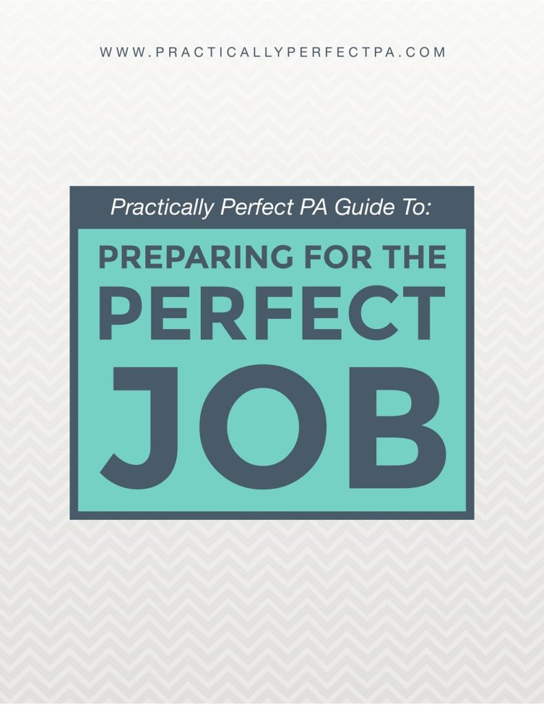 The Practically Perfect PA guide to preparing for the perfect job