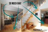 How To Gel Stain (ugly) Oak Banisters.