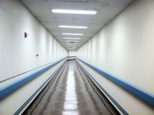 long empty hallway