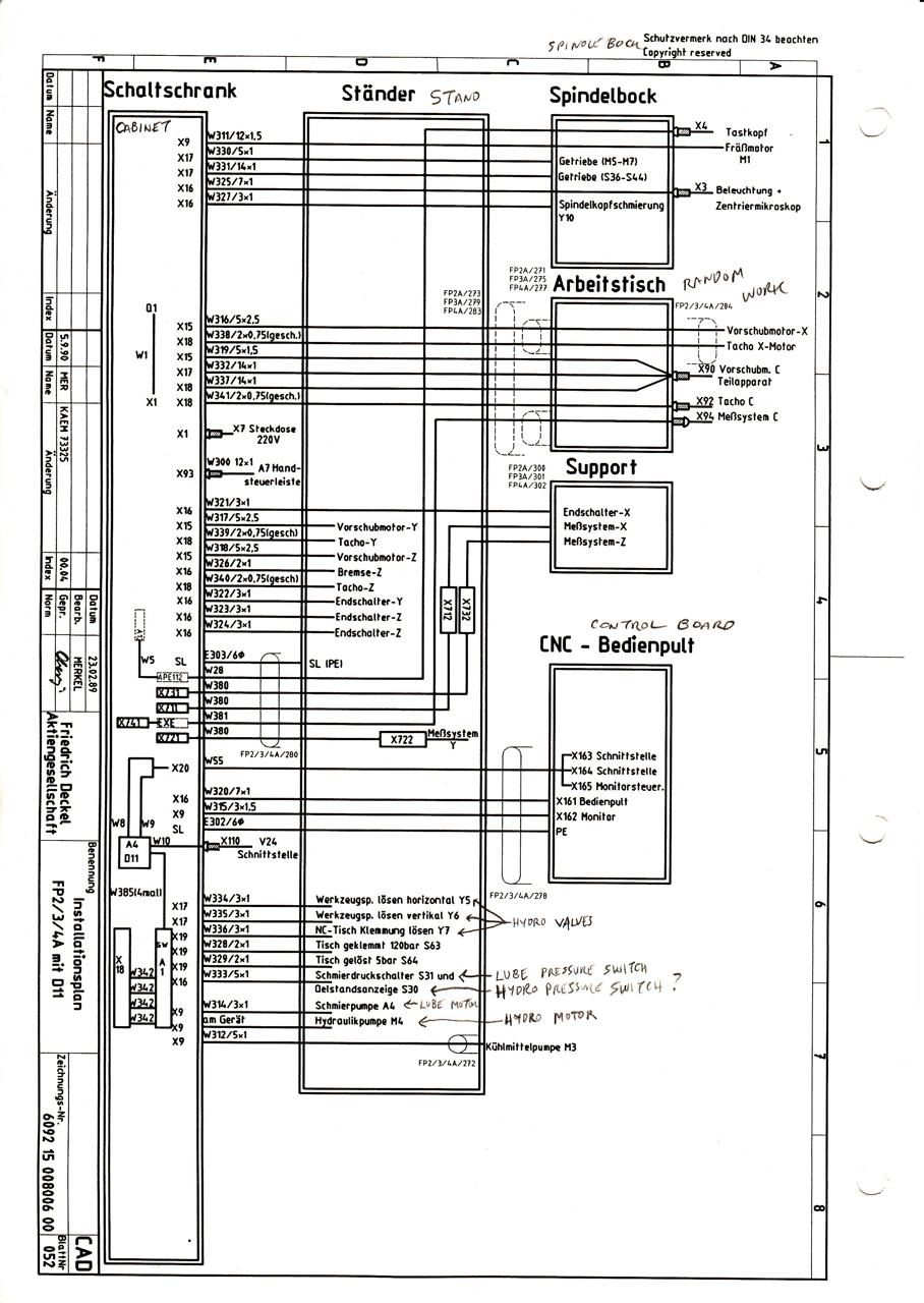 Deckel electrical schematic question