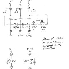 1 Phase Contactor With Overload Wiring Diagram Rib Numbers Single Power For Motor Generator 10ees