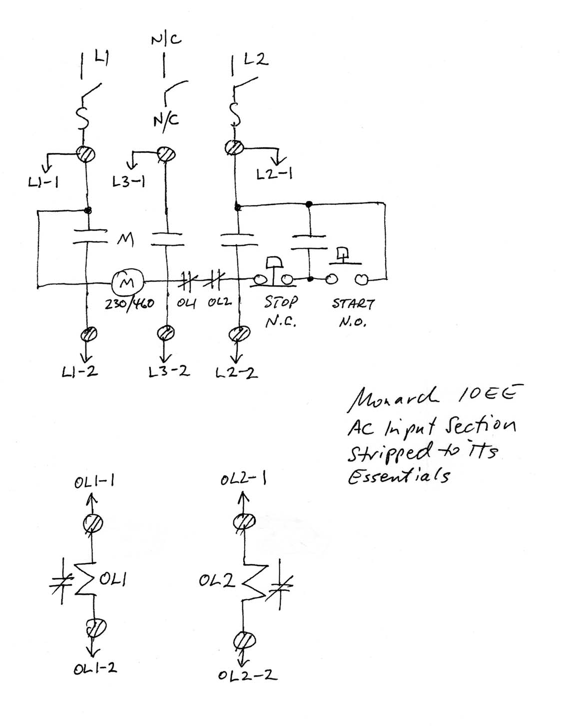 single phase capacitor start induction motor connection wiring diagram ford 460 distributor power for generator 10ees