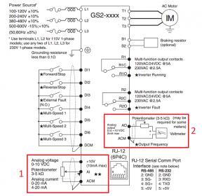 control wiring diagram of vfd single door access mill, setup