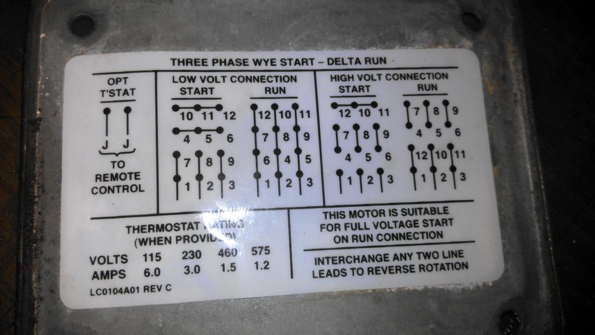 12 Lead Delta Motor Wiring Diagram Schematic Diagrams Wye Start Run Basic Guide 9