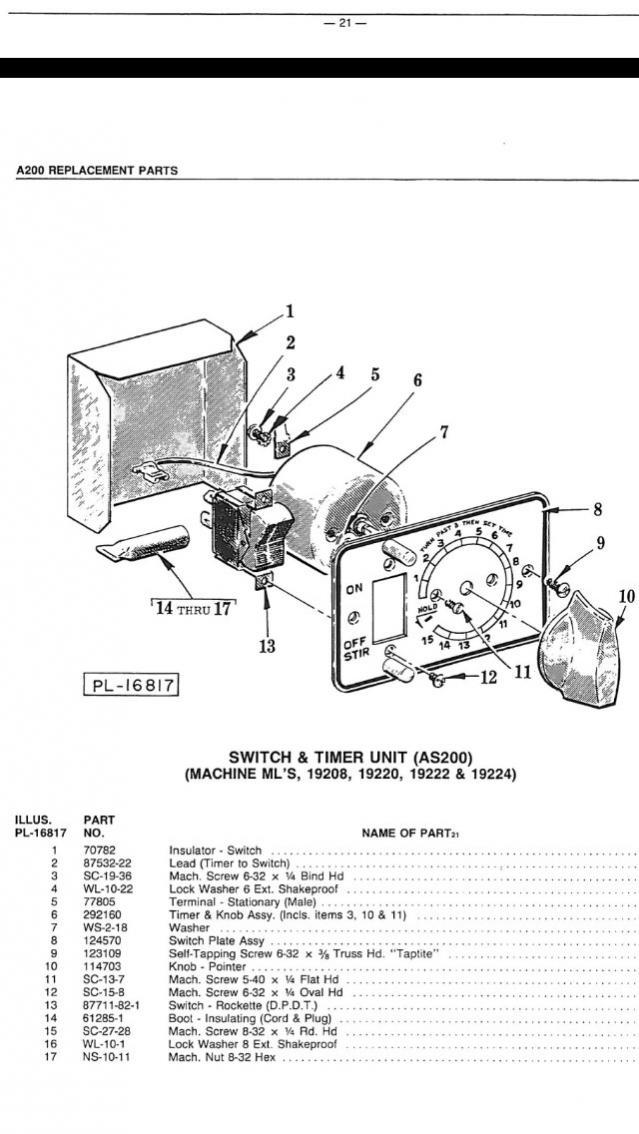 kitchenaid mixer wiring diagram rover 25 electric window hobart a200 c100 ~ odicis