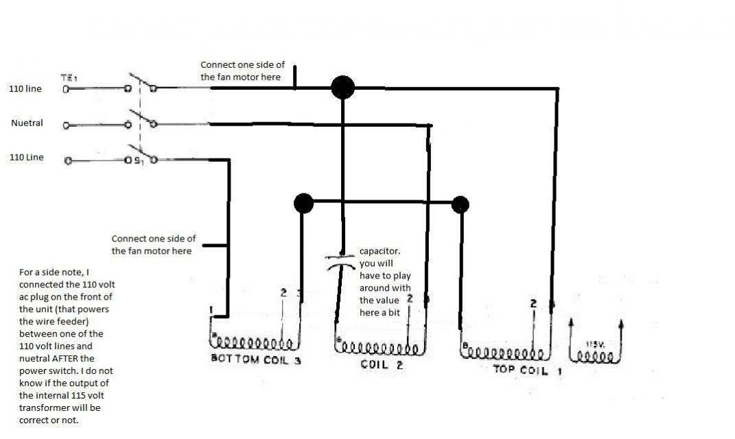 Miller CP-200 208/230v converted to 240v single phase