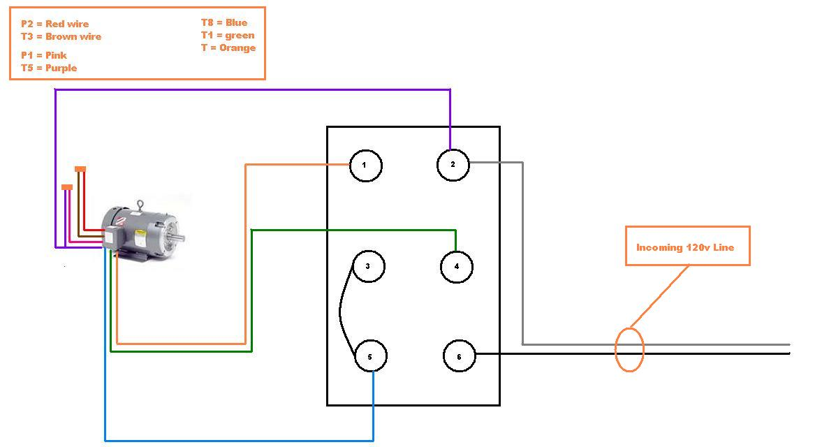 3 phase split ac wiring diagram for 13 pin trailer plug help single 110v motor to drum switch