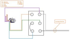 Help wiring single phase 110v motor to drum switch