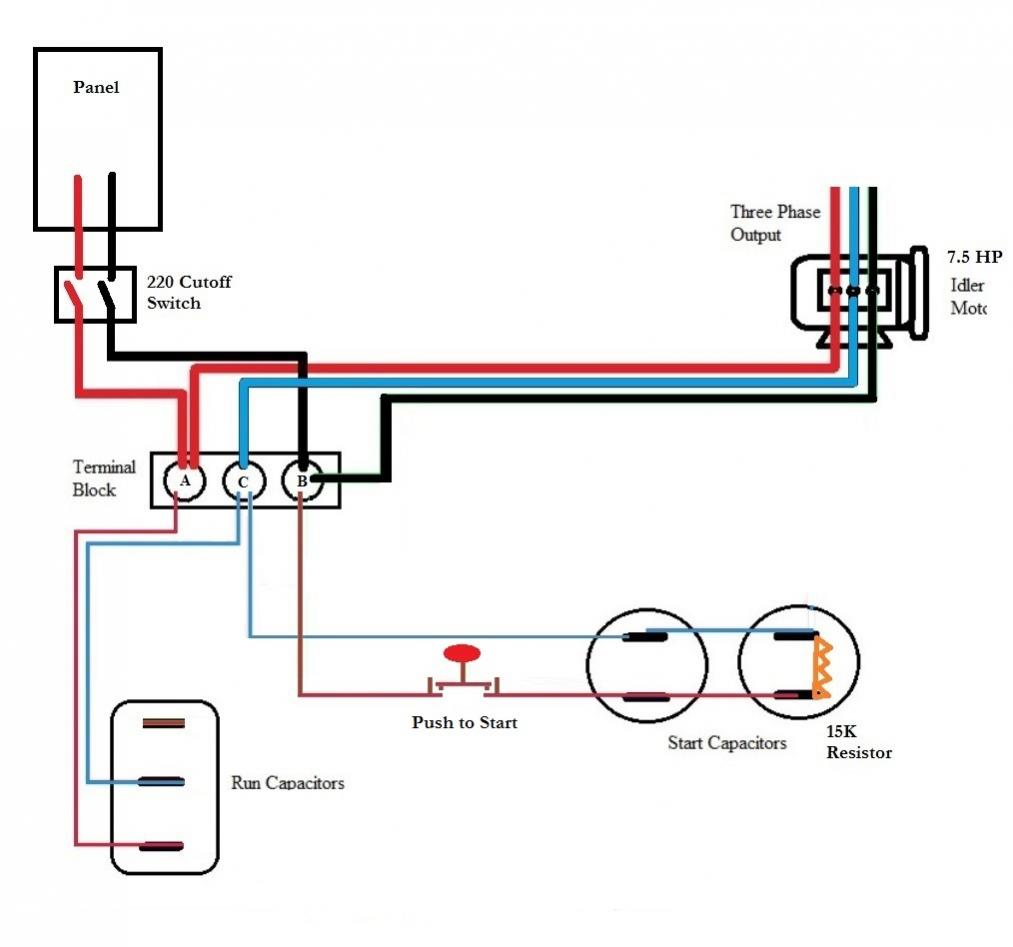 Roto Phase Converter Wiring Diagram 220 Single Phase Wiring