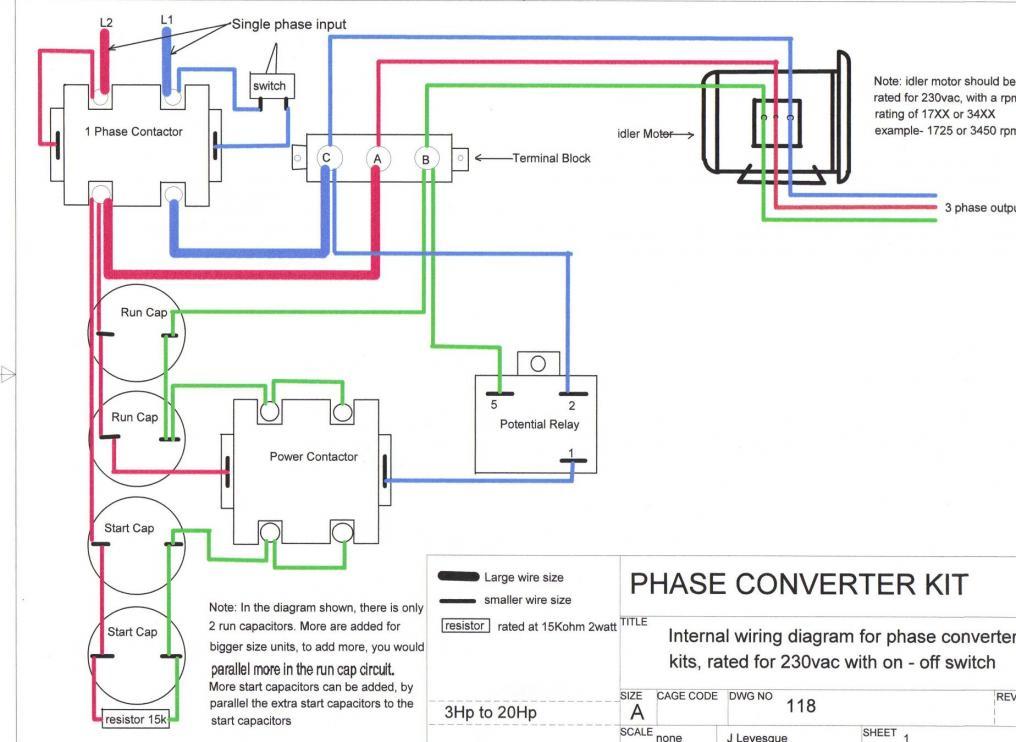 3 phase motor wiring schematic