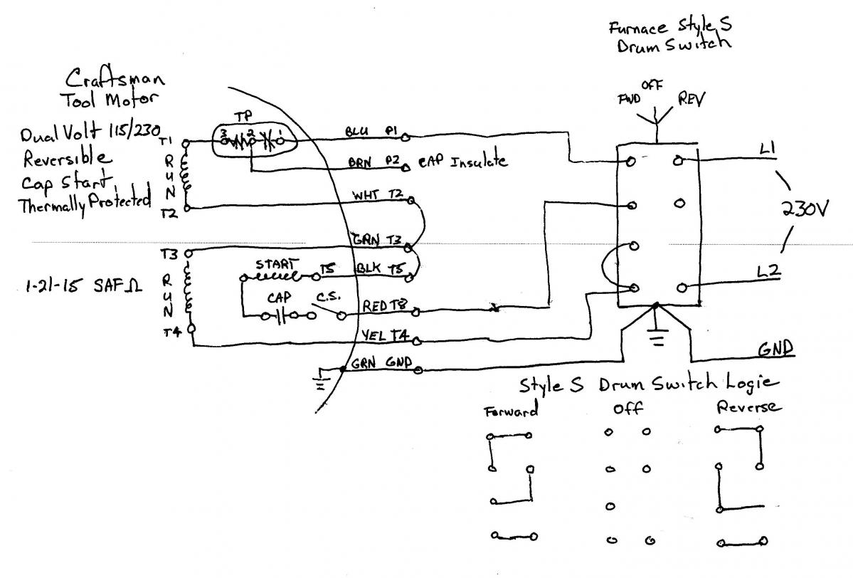 air compressor wiring diagram 230v 1 phase for four way switch a single motor to drum page 2