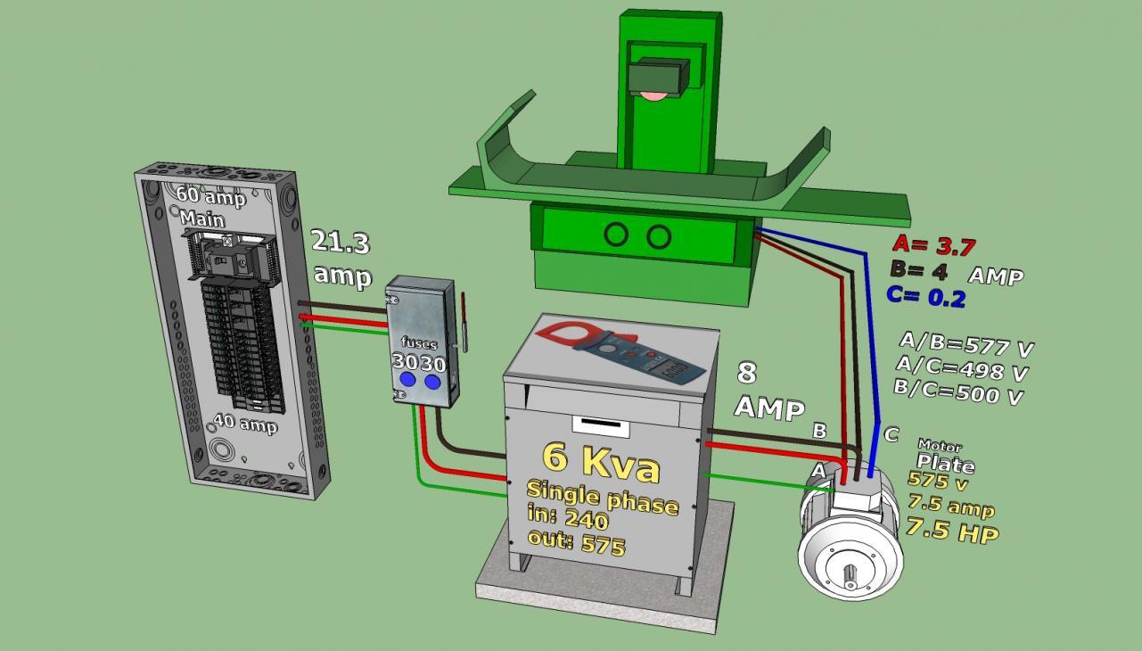 Jp Wiring Diagram 240 V To 575 V 3 Phase Converter Project