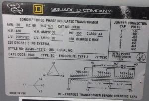 240V to 480V transformer questions