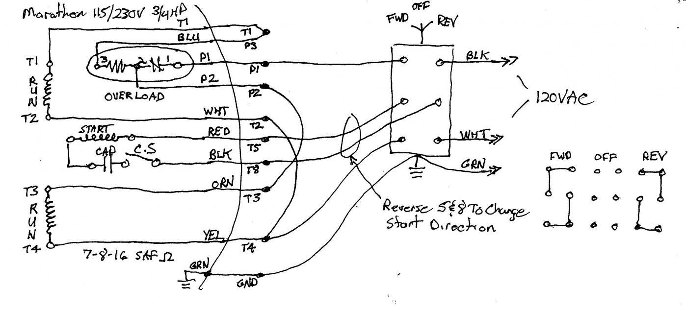 marathon furnace motor wiring