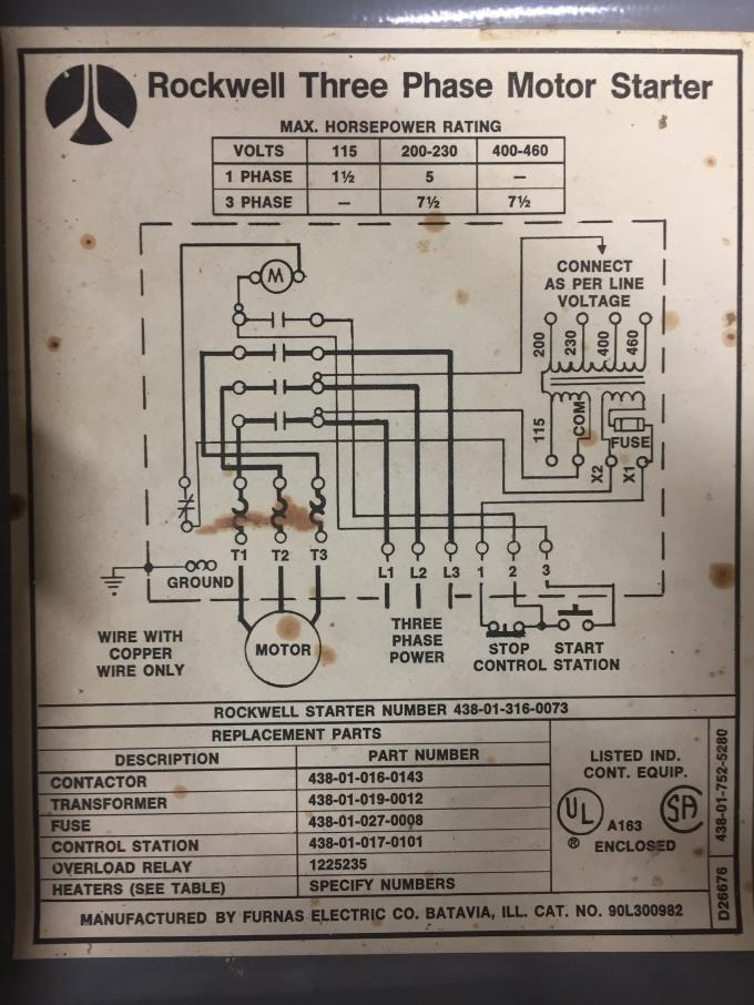 Electrical Diagram For Band Saw