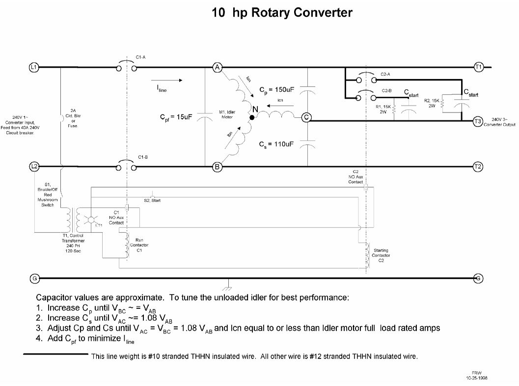 rotary phase converter wiring diagram trailer brake 5 way won 39t start help requested please