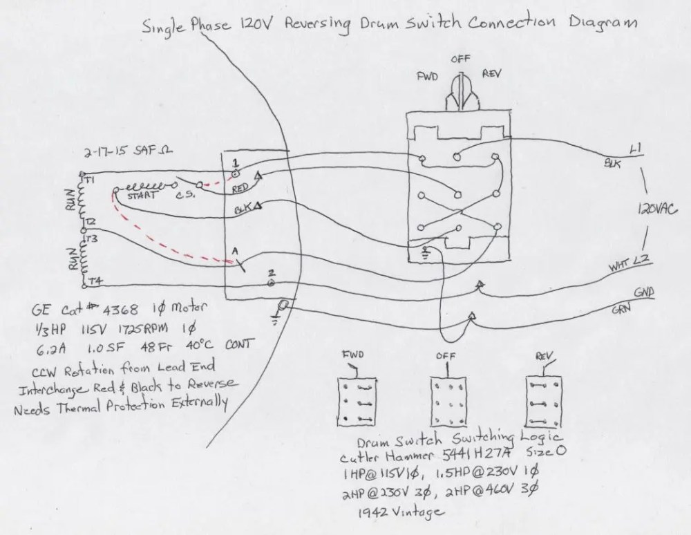 medium resolution of cutler hammer drum switch wiring diagram