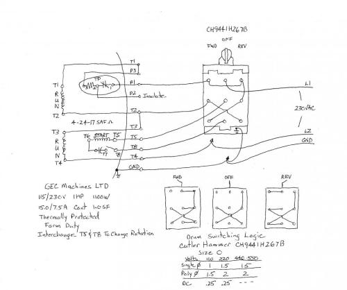 small resolution of 220 440 motor wiring diagram wiring library how to wire a baldor l3514 to a 6 pole drum switch single phase 1100 x