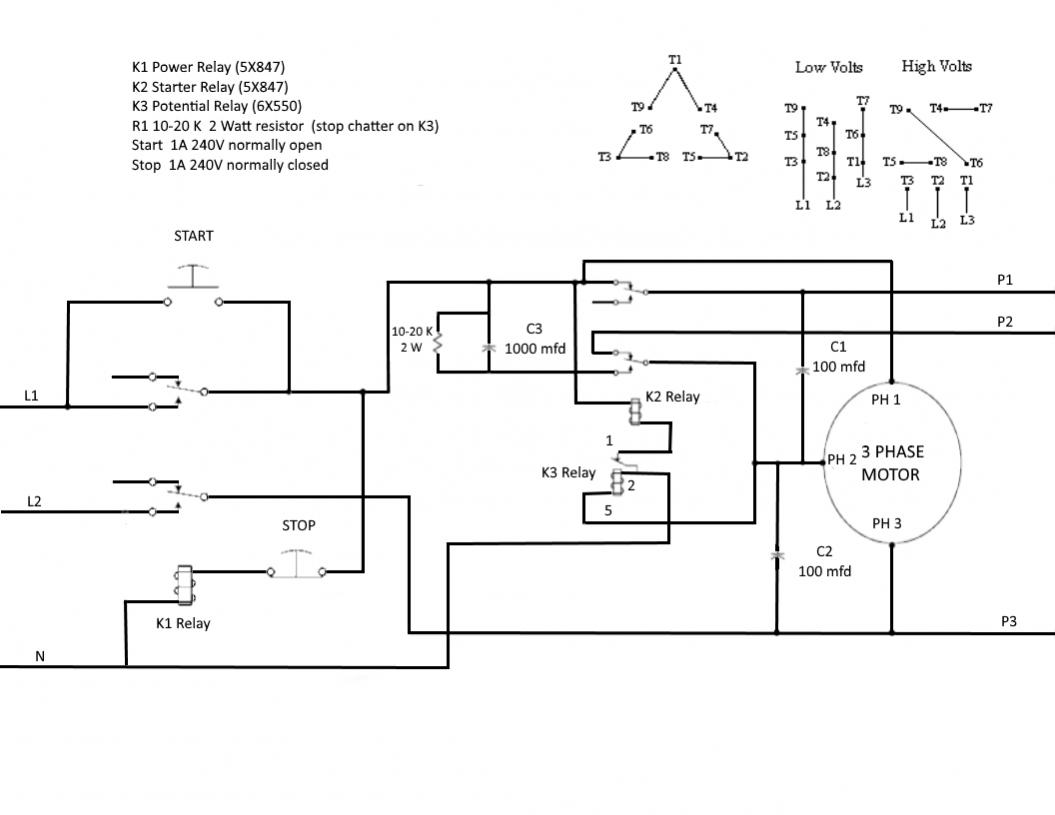 rotary phase converter wiring diagram towbar electrics 7 pin issue starts and runs slow