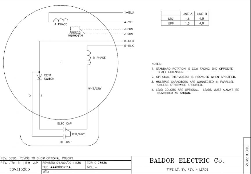 209600d1507444471 wiring single phase motor drum switch baldor5hp 1 l1410t dwg 6 lead single phase motor wiring diagram baldor l1410t wiring diagram at soozxer.org