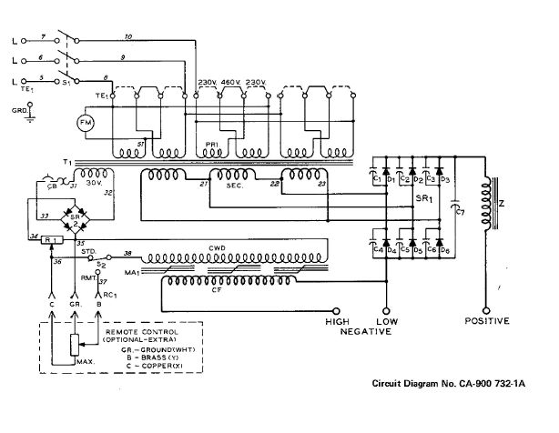 miller srh-333 to 240v single-phase - 240v welder wiring diagram