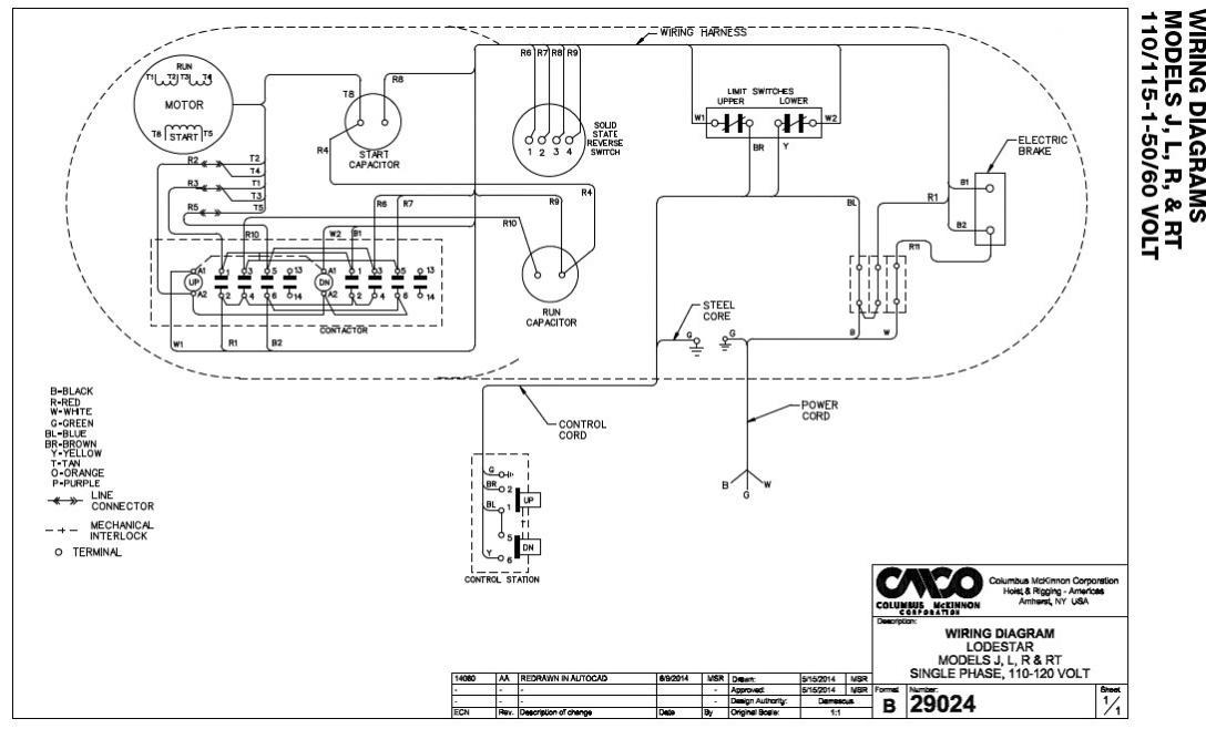 cm hoist wiring diagram 600 pound