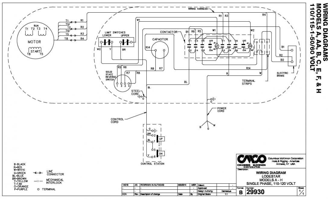 coffing hoist wiring diagram micro usb port chain schematic electric cm