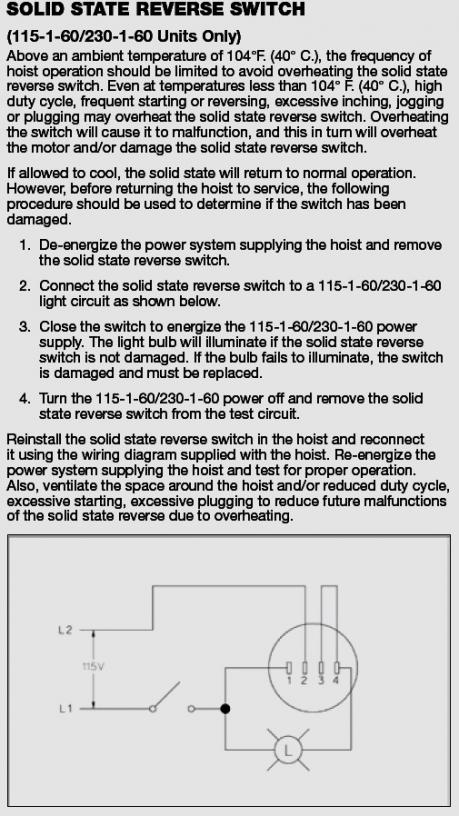 electric hoist wiring diagram switch