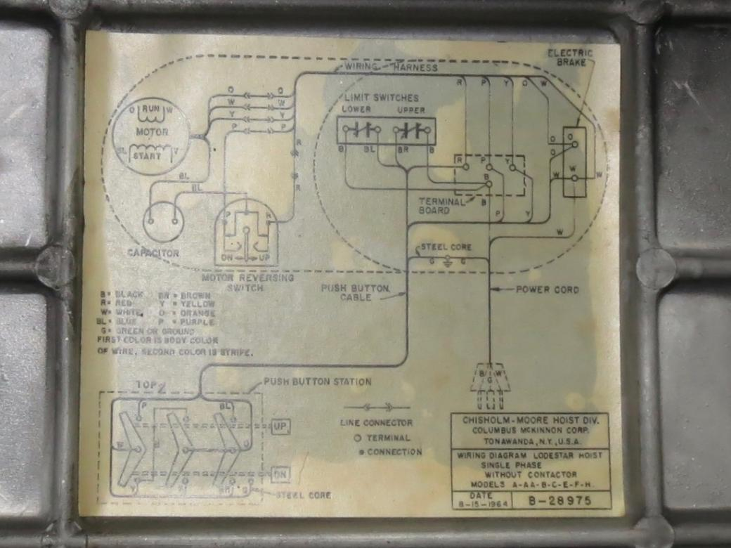electric motor wiring diagram 2000 dodge dakota radio help with cm ½ ton hoist trouble shooting