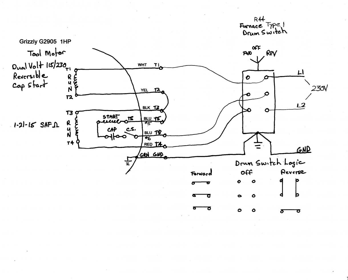 Dayton Motor Diagram 6k974bb - electric motor wiring diagram ... on