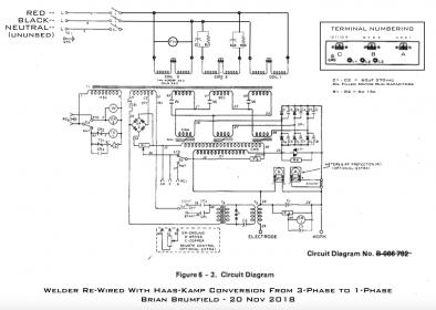 Miller SR-150-32 3-Phase to 1-Phase Conversion