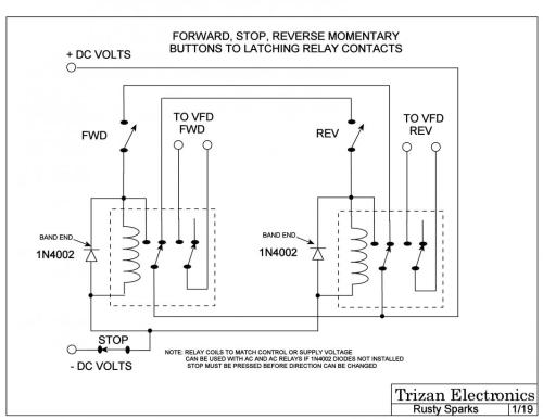 small resolution of here is a simple relay logic circuit that could be used if you don t already have one sorry about the us schematic symbols don t have this with de style