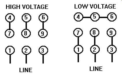 230/460 wiring on 15hp idler