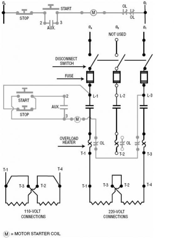 three phase emergency stop wiring diagram