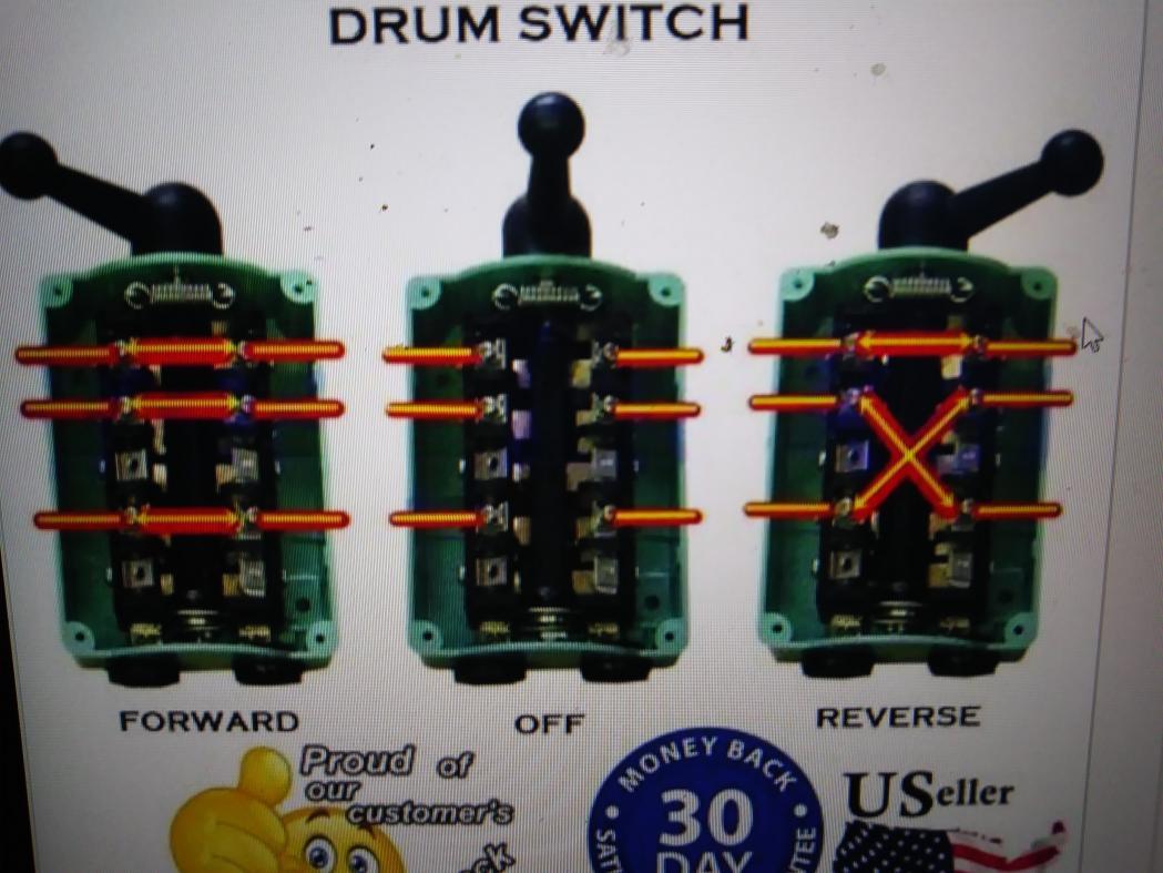 Wiring Diagram Wire Single Phase Motor Reversing Switch Wiring